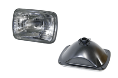 "FORD COURIER 7"" X 5"" SQUARE HEADLIGHT (2BS)"