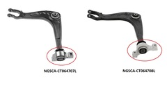 CITREON C5 SERIES 3 CONTROL ARM LEFT HAND SIDE FRONT LOWER